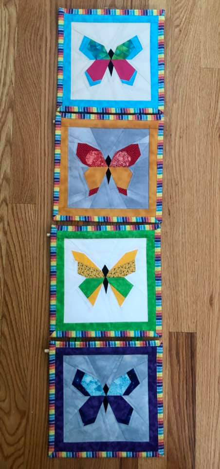 Quilted Butterflies by Linda Everett for Dr. Lauren Aleksunes