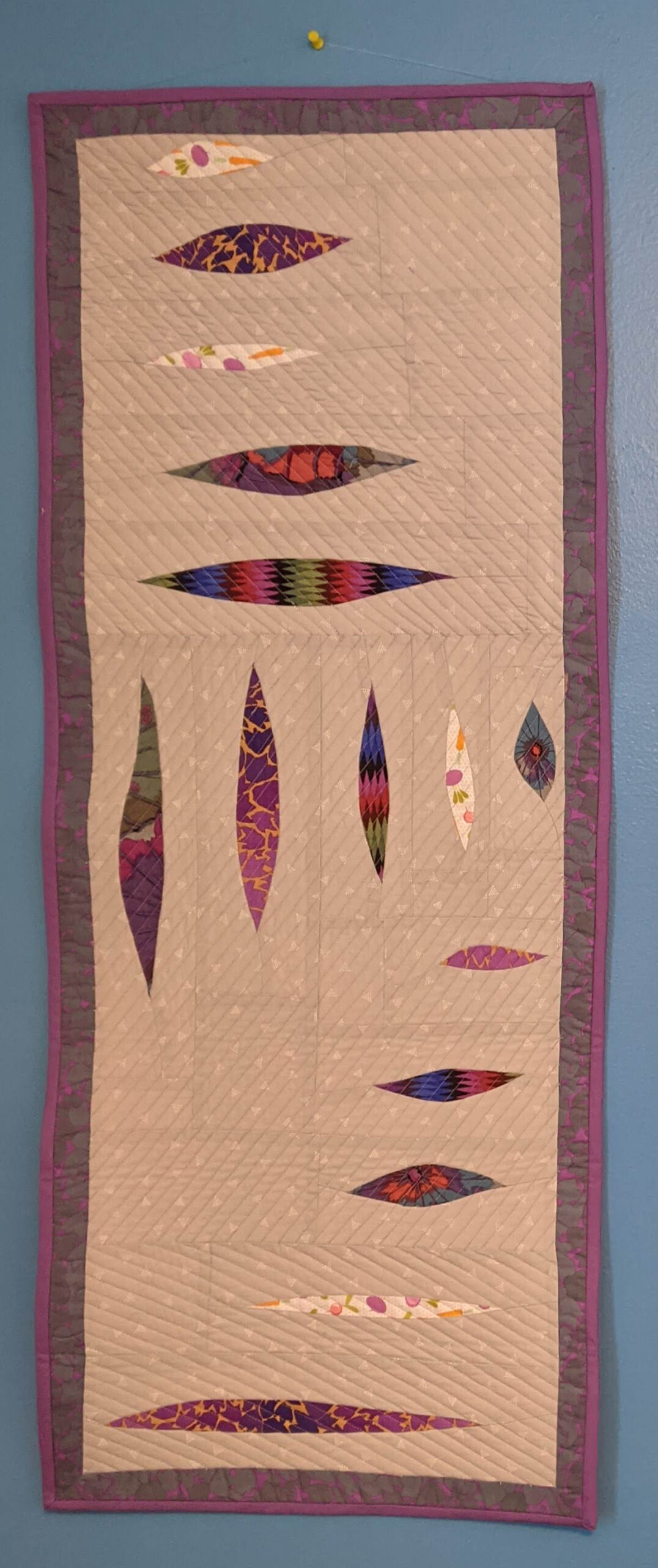 Wall hanging quilt by Dr. Nancy Fiedler for Linda Everett